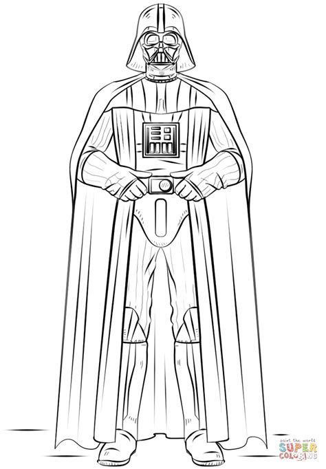 Darth Vader Coloring Pages To And Print For Free