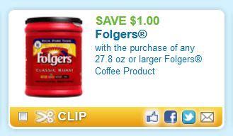 NEW $1.00/1 Folgers Coffee!!   DiscountQueens.com