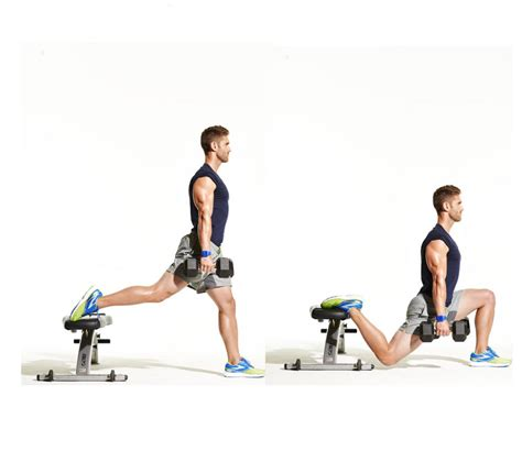 dumbbell bench lunges 15 amazing exercises you forgot all about
