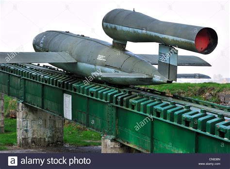 doodlebug bomb german world war two launching r with flying bomb