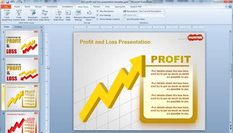 Free Profit Loss Powerpoint Template Free Powerpoint Templates Slidehunter Com P L Presentation Template