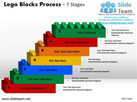 Lego Cubes Building Blocks Stacked Building Blocks Logical Process 7 Building Blocks Template