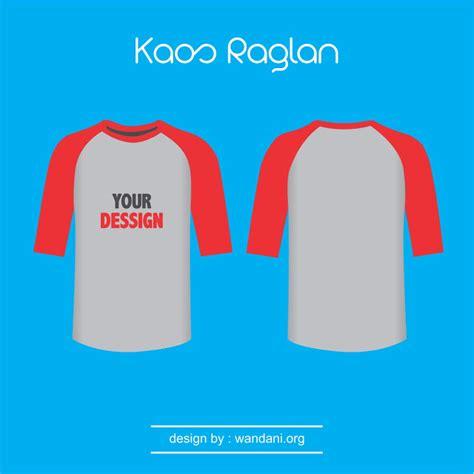 Kaos Logo Raglan mock up kaos raglan lengan merah wd vector