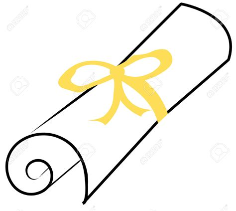 Unc Mba Yellow Ribbon by Graduation Scroll Clip 43