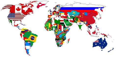 world map with country names and flags great international resources for students teachers