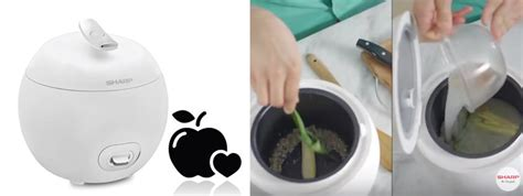 Centong Sendok Nasi Rice Cooker Bentuk Tupai jual sharp ks p8my wh apple rice cooker putih 0 8 lt 380 watt harga kualitas