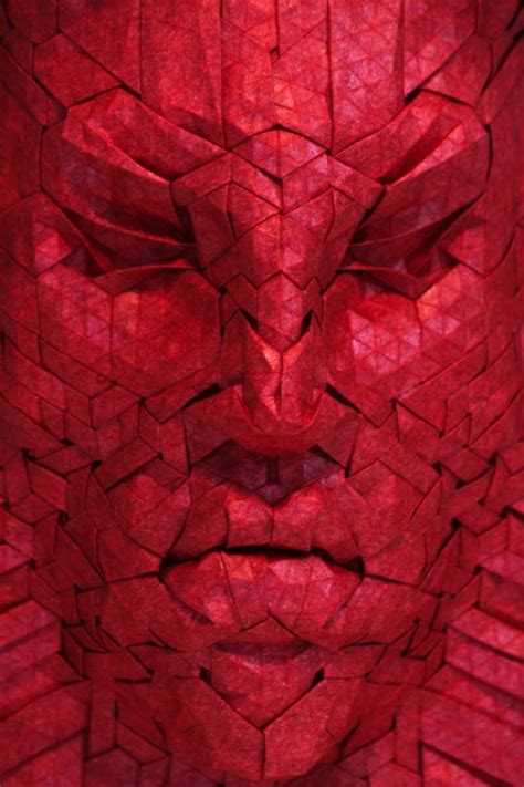 Intricate Origami - intricate geometric shapes and faces made using origami
