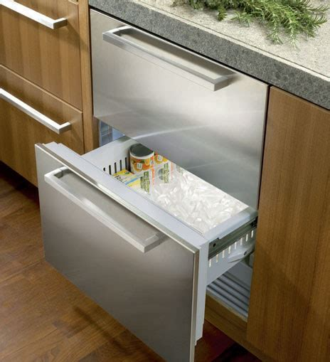 sub zero freezer drawers with ice maker sub zero id24fi 24 quot integrated double drawer freezer with