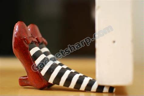 wicked witch shoes under house 13 cool and innovative doorstop designs gadget sharp
