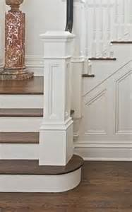 Stair Banister Rail Square Newel Post On Round Bottom Step Attic Conversion