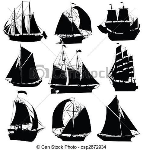 dessin bateau silhouette dessin de bateaux voile collection voile bateaux