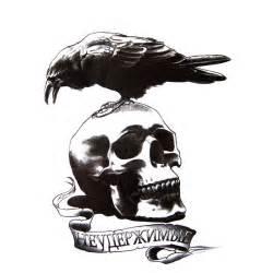 tatouage temporaire ou ephemere d une tete de mort avec
