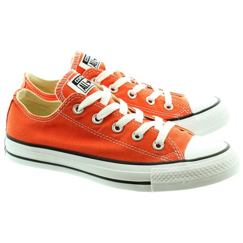 Converse Canvas converse canvas allstar ox lace shoes in orange in orange