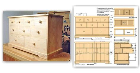 How To Build A Dresser Drawer by Build Chest Of Drawers Woodarchivist