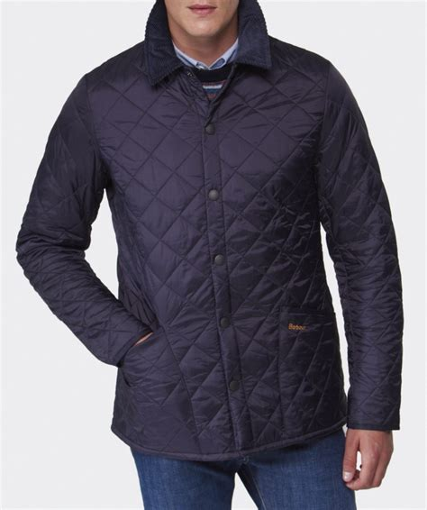 Mens Barbour Heritage Liddesdale Quilted Jacket by Barbour Heritage Liddesdale Quilted Jacket In Blue For