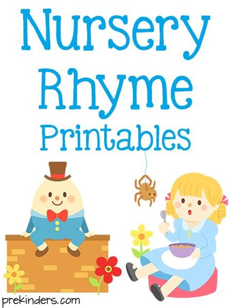 Free Printable Nursery Rhyme Posters Nursery Rhyme Printables The Pictures Of And Books