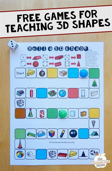 printable game board shapes free games for teaching about 3d shapes the measured mom