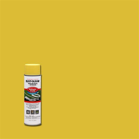 home depot spray paint yellow rust oleum industrial choice 17 oz yellow athletic field