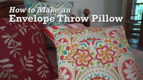 How To Make An Envelope Throw Pillow Youtube How To Make Sofa Pillows