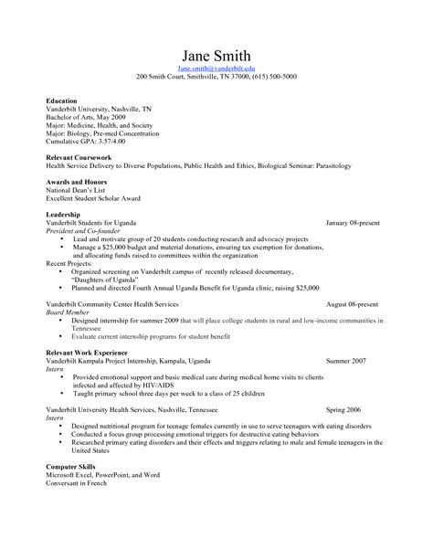 resume exles science resume template biology sle