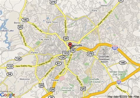 greenville sc map map of hyatt regency greenville greenville