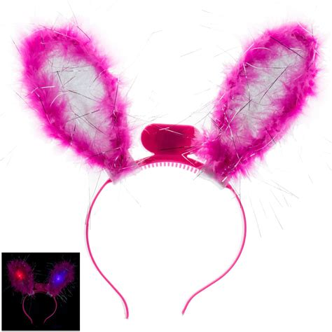light up bunny ears led light up flashing bunny ears headband girls night out