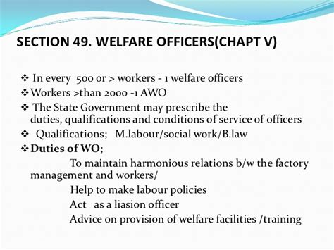 section 49 labour relations act factories act 1948