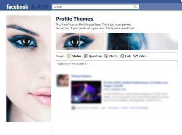 Themes In Facebook Profile | ว ธ การแต ง profile themes facebook thasnai