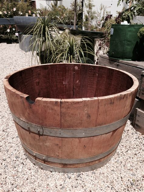 Wine Barrel Planters For Sale wine barrels and half wine barrels for sale great for