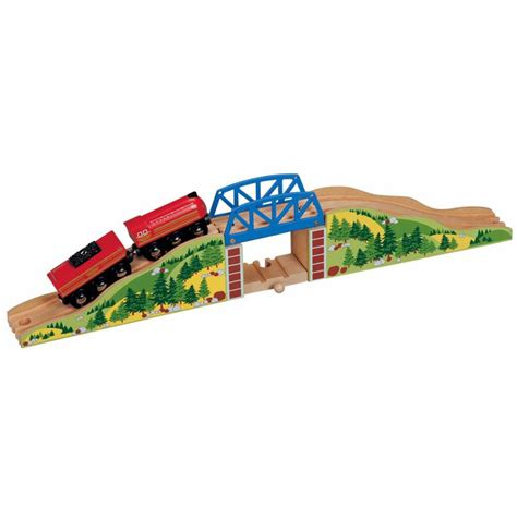 brio wooden train wooden railway train set hilltop bridge brio thomas