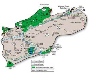 harlan ky map adventure tourism in harlan county