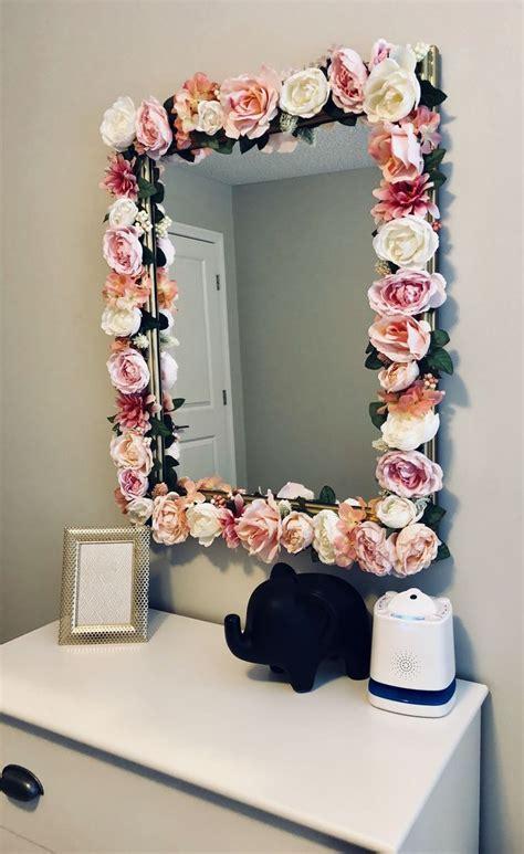 diy flower mirror instagram jayloandstitch village