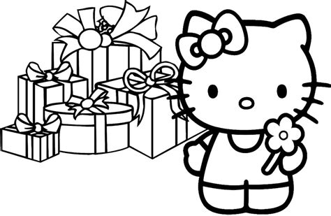 hello kitty merry christmas coloring pages merry christmas color pages az coloring pages