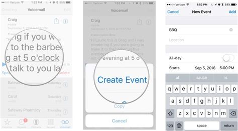 Adding Calendar To Iphone How To Use Voicemail Transcripts On Iphone Imore