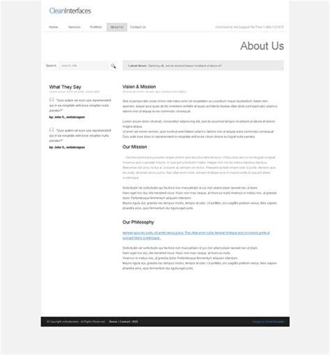 xhtml template cleaninterface xhtml template corporate css templates