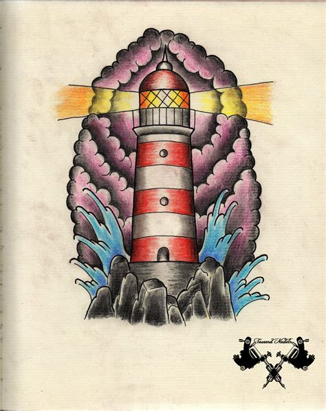 new school lighthouse tattoo tattoo flash lighthouse by tausend nadeln on deviantart