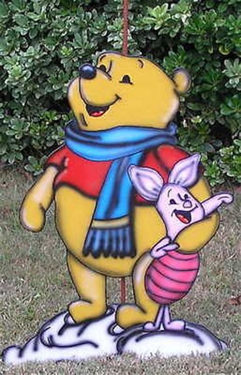 winnie the pooh and piglet christmas yard art decoration