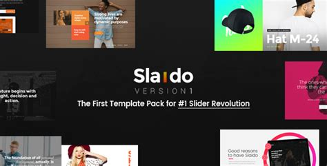 Slaido Template Pack For Slider Revolution Jogjafile Revolution Slider Templates