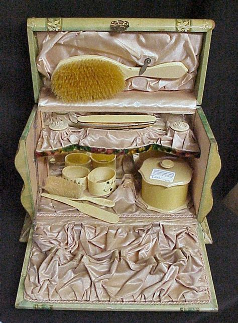 Vintage Dresser Set by 1000 Images About Mirror Comb Brush Vanity Sets On