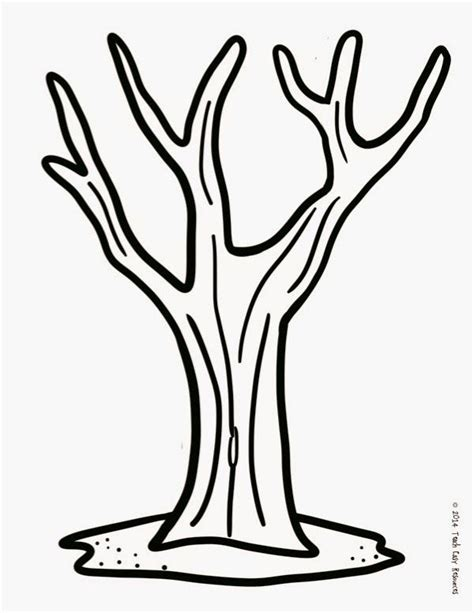 coloring pages tree trunk printable tree template coloring home