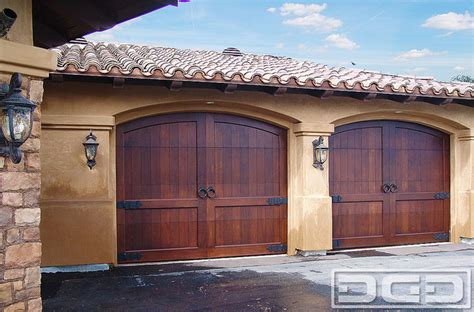 Custom Made Garage Doors California 10 Custom Made Arched Top Carriage Style Wooden Garage Doors Mediterranean