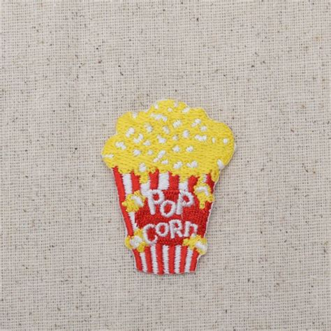 Patch Popcorn Patches Iron On Patch popcorn tub junk food iron on applique embroidered patch 695477a from
