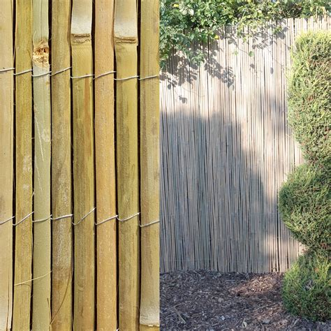 4m bamboo slat natural garden screening fencing fence