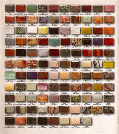 semi precious color chart images photos