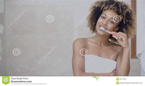 teeth cleaning at home stock photo image 63119671