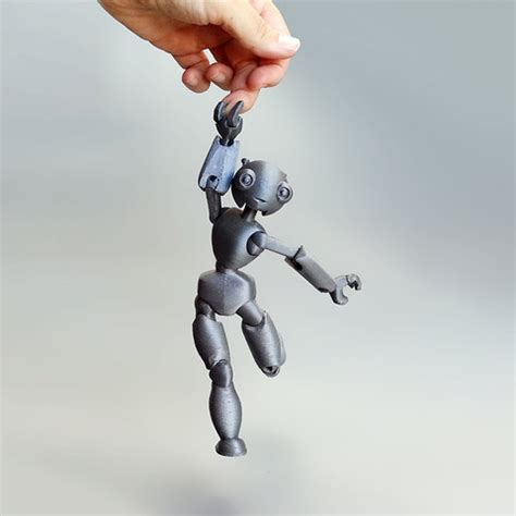 free jointed doll 3d model free stl jointed robot cults