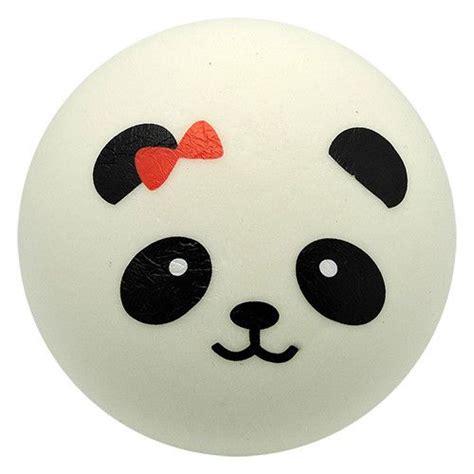 Squishy Jumbo Character Bun White kawaii squishies panda bun bow white jumbo rising soft and squishy approximate