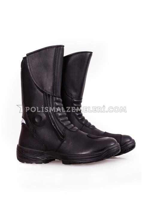yds yunus polis siyah deri motorcu botu polismalzemeleri