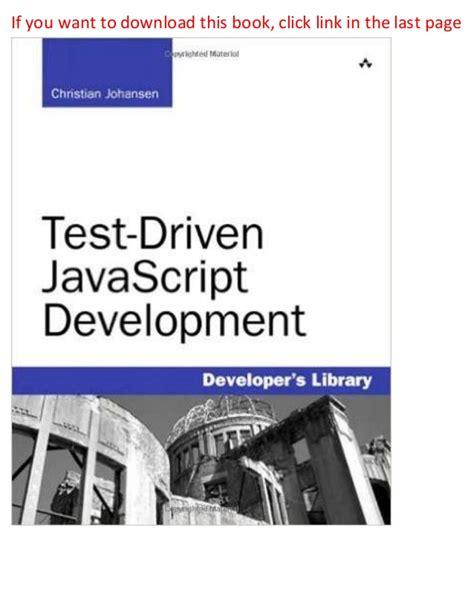 java tutorial test driven development test driven java script development developer s library