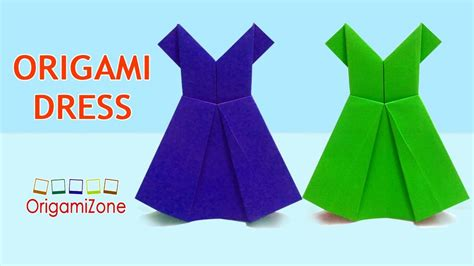 Origami Paper Dress - how to make origami dress easy origami paper dress how